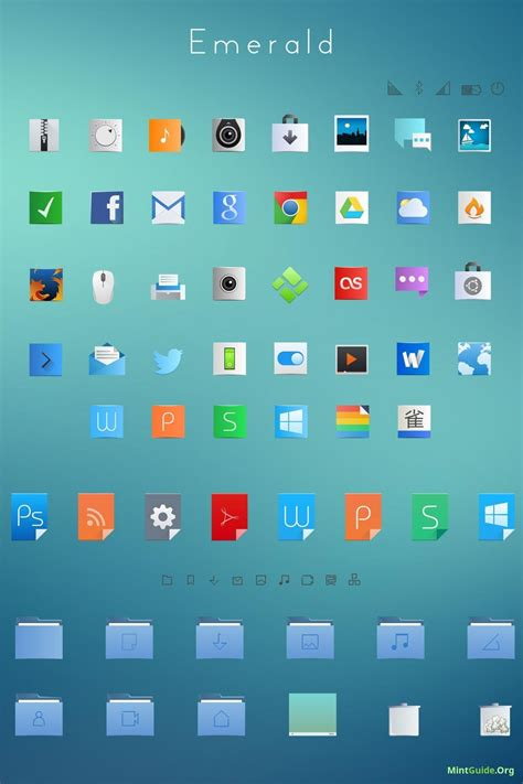 Clean Themes Install Emerald Icon Theme Clean And Fresh Icons Into
