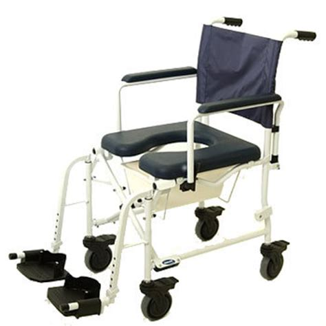 invacare mariner rehab shower commode chair with 5 wheels