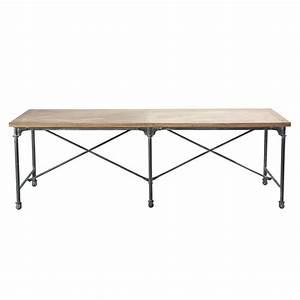 Table En Manguier : table de salle manger en manguier massif et m tal l 240 cm archibald maisons du monde ~ Teatrodelosmanantiales.com Idées de Décoration