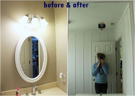 mirror install bathroom diy before frame easy remodels value professionally homedit