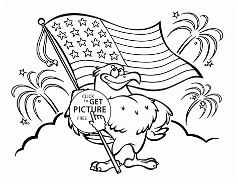 Pin United States Of America Flag Coloring Page On Pinterest