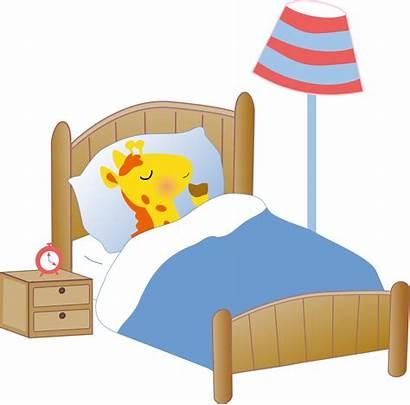 Clipart Bed Giraffe Hospital Sleeping Vector Cartoon