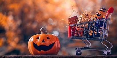 Halloween Money Shopping Bambini Concept Pumpkins Festival