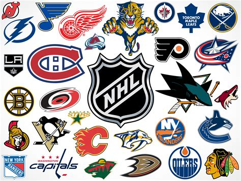 National Hockey League Team Vector Logos • Market Your Psd