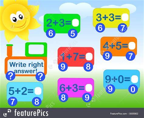 education mathematical game stock illustration