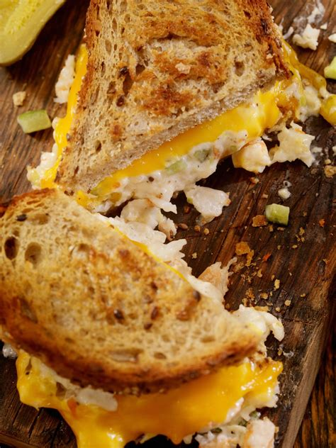 crab  shrimp salad cheddar melt sandwich recipe