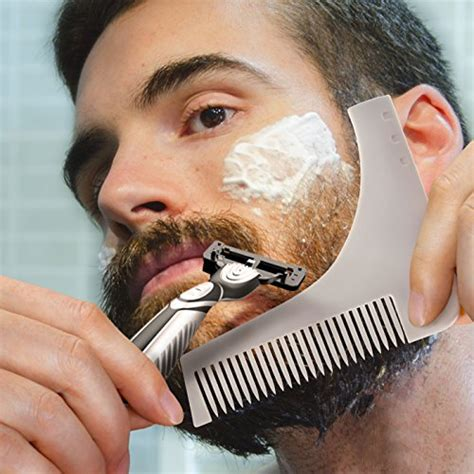 beard shaping beard styling template hair grooming shaping tool comb for mastach trmming lines