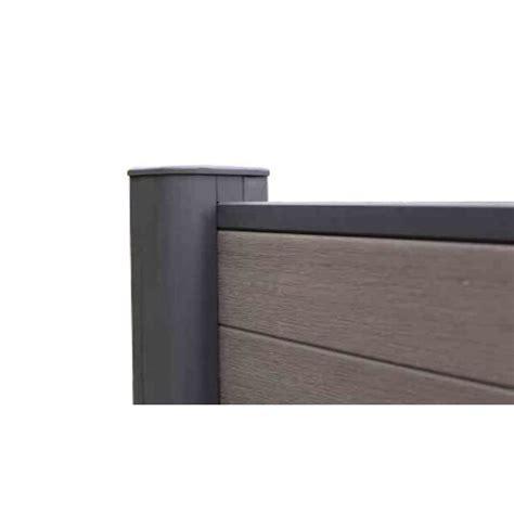 poteau aluminium pour cloture ultraprotect 80x80mmxl240cm neowood