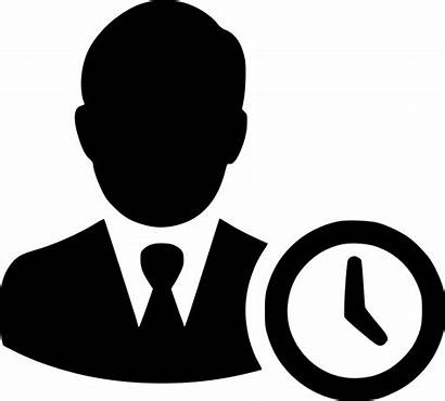 Icon Clock Working Management Icons Transparent Business