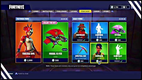 fortnite item shop april    featured items
