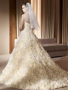 elegant wedding dresses with flower skirts sang maestro With wedding dress skirts