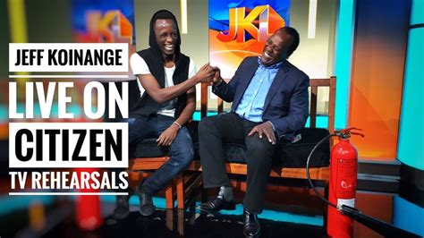 We're now available from miami gardens and news outlets report that a woman is in critical condition after sustaining a gunshot wound to the upper. JEFF KOINANGE LIVE ON CITIZEN TV REHEARSALS!! - YouTube