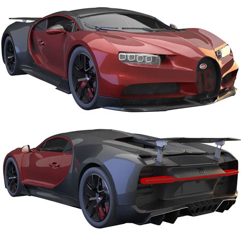 Bugatti chiron pur sport 2021 (opening doors and trunk) 3ds max + dwg fbx oth obj: 3D Bugatti Chiron sport | CGTrader
