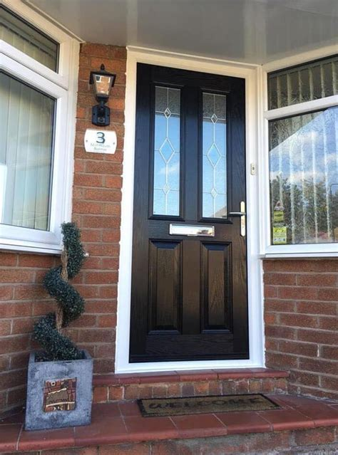 black double pained window front door  window company