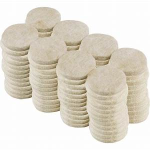 Everbilt 1 in beige heavy duty self adhesive felt pads for Furniture feet pads home depot