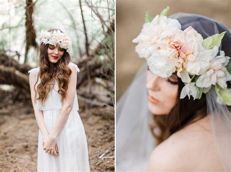 beautiful boho bridal flower crowns chic vintage brides