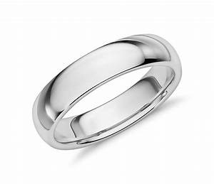 comfort fit wedding ring in 14k white gold 5mm blue nile With images of white gold wedding rings