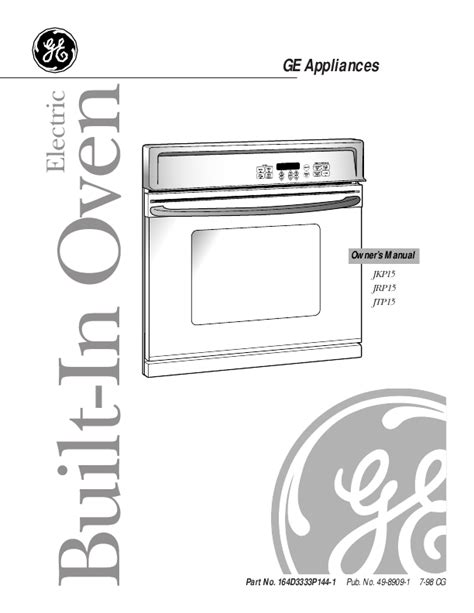 ge oven jkp users guide manualsonlinecom
