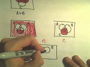 Venn Diagrams  Shading Regions With Three Sets  Part 2 Of 2