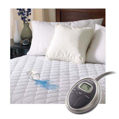 sunbeam heated mattress pad sunbeam selecttouch waterproof quilted electric heated