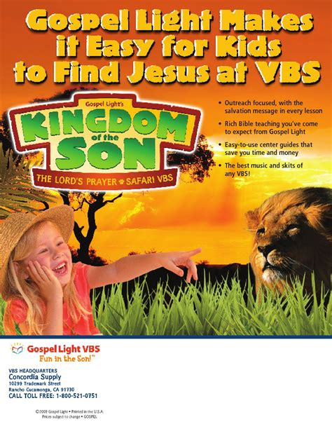gospel light vbs issuu kingdom of the prayer safari vbs catalog by