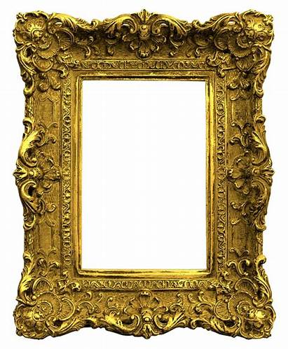 Frame Gold Antique Frames Ornate Transparent Classic