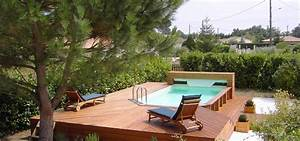 emejing piscine integree dans terrasse ideas amazing With piscine avec sol qui remonte