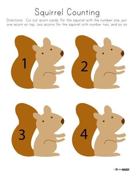 squirrel week free printable m is for toddler 632 | fe401075466d208250f63c9077027ef9