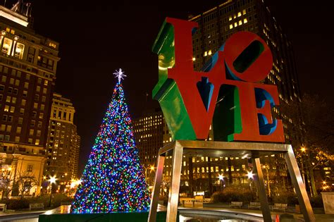 christmas in love park i was in philadelphia this past