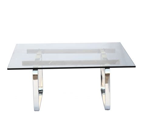 Benton Glass Coffee Table  Brickell Collection • Modern