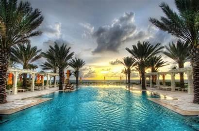 Florida Beach Pool Nature Swimming Palm Trees
