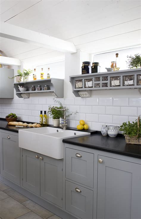 Grey Cupboards Kitchen by Kitchen In Grey Notice The Swedish Glass Jars In