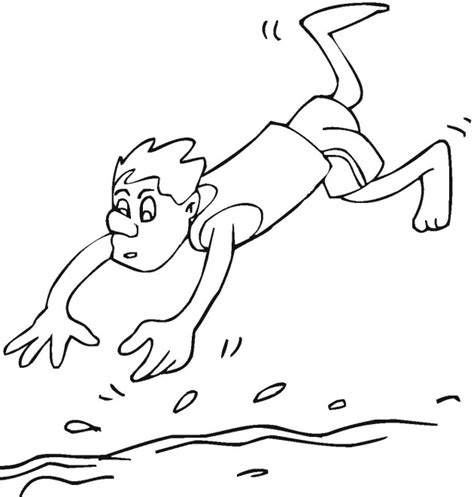 swimming coloring pages free swimming coloring pages