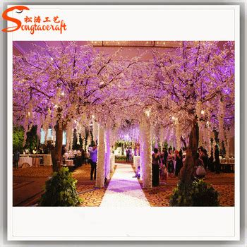Artificial Indoor Silk Cherry Blossom Trees For Wedding