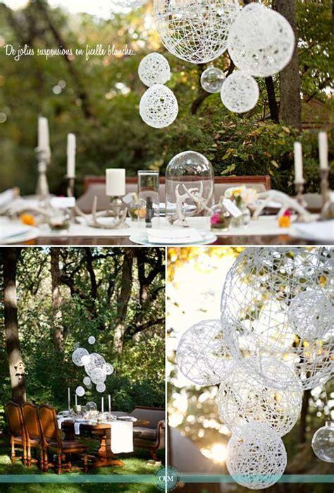comment organiser un mariage diy de belles suspensions en corde pour décorer votre salle ou vos tables organiser un mariage