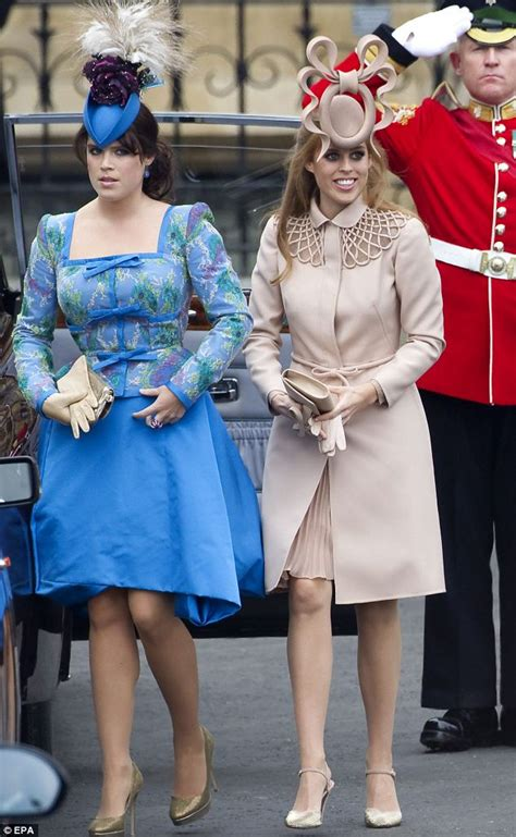 Princess Beatrice & Eugenie's Royal Wedding Hats - Beatrice and Eugenie Attend Prince Harry & Meghan Markle's Wedding