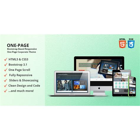 Onepage Theme Free Bootstrap Onepage Corporate Theme