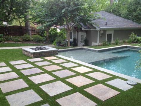 award winning house synthetic turf backyard oasis