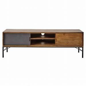 Meuble Tv Manguier : meuble tv en manguier l 150 cm arty maisons du monde ~ Teatrodelosmanantiales.com Idées de Décoration