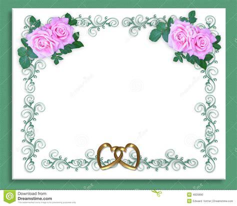 rosas da cor de rosa do convite do casamento ou do partido foto de stock imagem 4820890