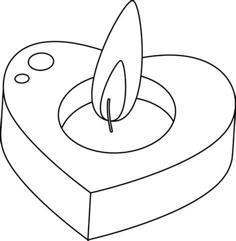 dessiner un plan de cuisine coloriage une bougie en forme de cœur dory fr coloriages