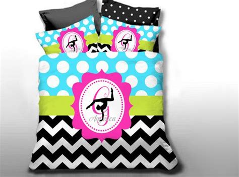bedding sets customize colors gymnastics bedding set monogrammed by