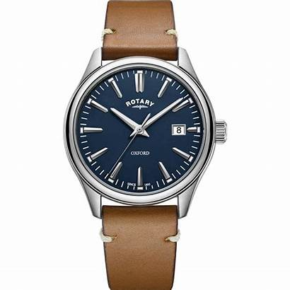 Rotary Oxford Mens Dial Tan Leather Watches