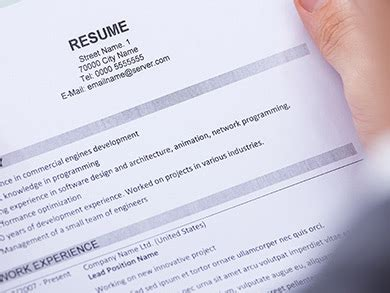 Resume 6 Second Test by Does Your Resume Pass This Six Second Test