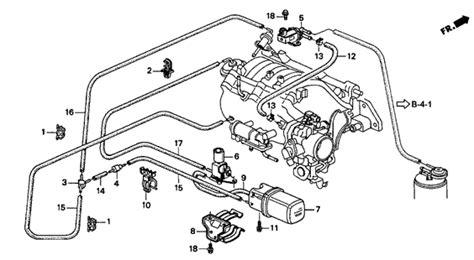Vacuum Tank Tubing For Acura Integra Hatchback