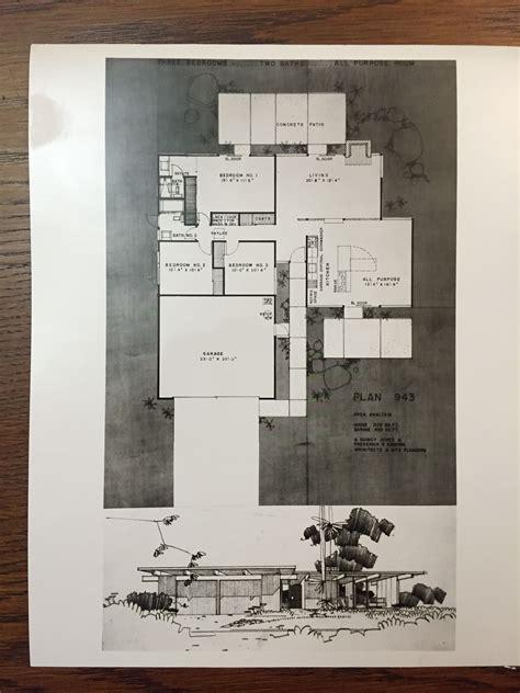 eichler homes floor plan  original  ucla library