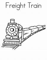 Coloring Train Freight Pages Template Colouring Printable Templates Pdf Subject Perfect sketch template