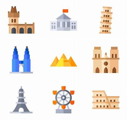 Landmarks Italy Icons