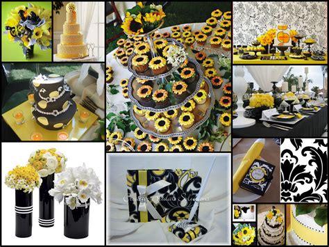 yellow black wedding wedding dish