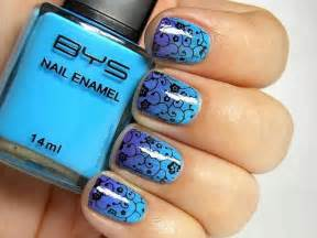Blue and black nail art designs picture